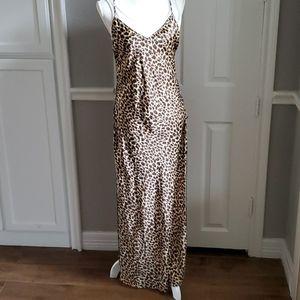 Ladies Leopard Print long nighty